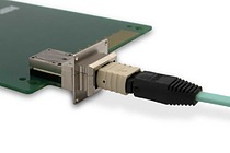 The LightVISION VM is a screw-in, robust, industrial and RoHS optical module with MPO interface.