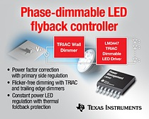 AC/DC LED driver includes a dimmer detect, phase decoder and adjustable hold current circuits to provide smooth and flicker-free dimming