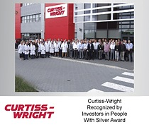Curtiss-Wright Recognized by Investors in People With Silver Award