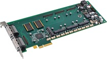 Shown: APCe7043 ¾-length PCIe carrier card for AcroPack I/O modules