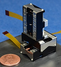 M3-LS Linear Smart Stages in three-axis configuration for precise micro positioning.