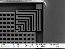 Close up of motion sensor