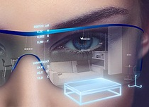 Enabling augmented reality glasses to display exactly the right information at the right time: Thanks to the tiny SFH 4055 infrared LED, eye-tracking systems can also be fitted to headsets to establish the line of sight. Source: Osram