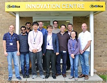 EnSilica's RF and low power sensing design team with Ian Lankshear, EnSilica's CEO (centre, front row) and Alan Wong, EnSilica's new Director of RF IC Design (third from left, front row)