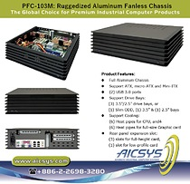 PFC-103M Aluminum Fanless Chassis support 3 drive bays