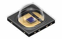 Latest chip and package technology for the mid-range power class. The high-efficiency 850 nm IRED Oslon Black SFH 4713A offers an optical output of 760 mW at a current of 1 A.    Photo: Osram
