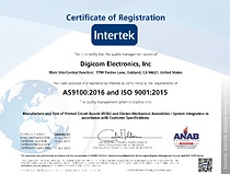 AS9100:2016 (RevD) Aerospace and ISO 9001:2015 Certification