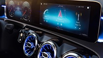 The MBUX platform, co-developed by Luxoft and Daimler, in the new Mercedes A Class