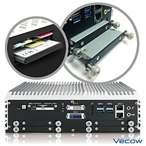 Vecow IVH-9200 is equipped with 4 SSD trays, 3 SIM sockets and 1 CFast socket