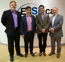 (L to R) Andrew Bennett (Lojixx Director), Ian Lankshear (EnSilica CEO), Richard White (Lojixx Director), David Doyle (EnSilica Commercial Director)