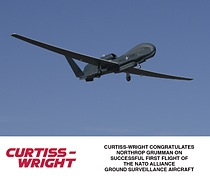 Curtiss-Wright Congratulates Northrop Grumman on Successful First Flight of the NATO Alliance Ground Surveillance Aircraft