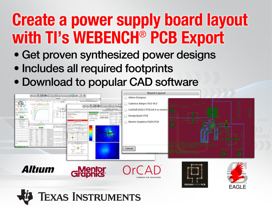 Create a power supply board layout in minutes with TI\'s WEBENCH(r ...