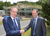 Ian Shearer with Amiri Director Neil Cole with the new VadaTech building