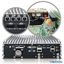 Vecow ECS-9700/9600 GTX950 supports 6 GigE LAN w/4 PoE+, 32 Isolated DIO, up to 160W Power budget for PCIe x16