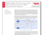 White Paper: Intel Xeon Cores Power High Performance and Low SWaP Complex Sensor Solutions