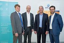 From left to right: Andreas Mielke – Eplax – Co-Managing Director Martin Sjöstrand – Powerbox C.E.O. Wolfgang Pape – Eplax – Co-Managing Director Henrik Flygar – Alder / Powerbox – Board Member