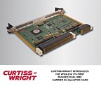 CURTISS-WRIGHT INTRODUCES ITS FIRST RUGGED  DUAL XMC CARRIER 6U OpenVPX® CARD