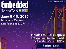 Embedded TechCon on June 8th-10th, 2015 at Moscone Center in San Francisco, Ca.