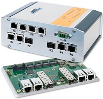 MAXBES 10-port switch with 2x 10Gbit SFP+